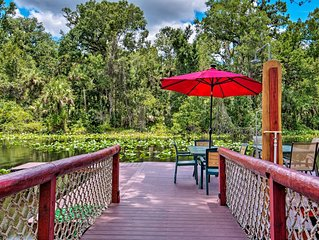 NEW-Riverfront Orlando Area Cabin in Wekiwa ST Prk