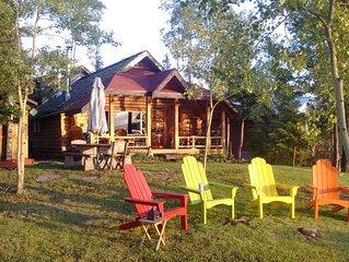 Beautiful Lakefront Log Cabin