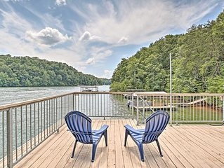 NEW! Lake Lanier Home w/Boat Dock, Walk to Water!