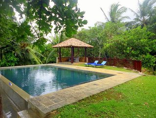 3BR Villa in a green heaven of Peace and Tranquility at Koggala Lake