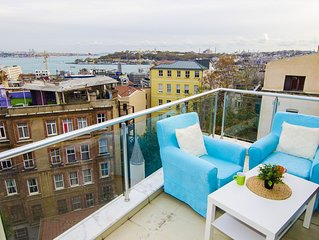 PENTHOUSE WITH UNIQUE SEA VIEW NEAR GALATA TOWER