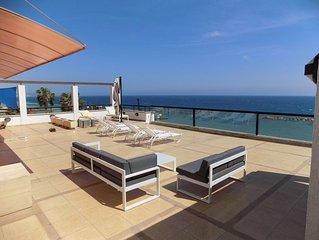 3b Beachfront Large Pool Penthouse-Apollonia beach
