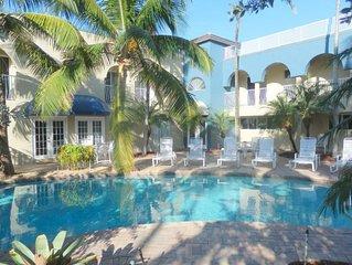 Blue Ocean Villa 1 2/2 for 7 Beachfront & Heated Pool