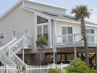 Modern beach cottage steps from ocean with pool & hot tub