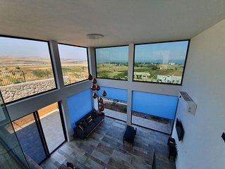 Sea of Galilee panorama view