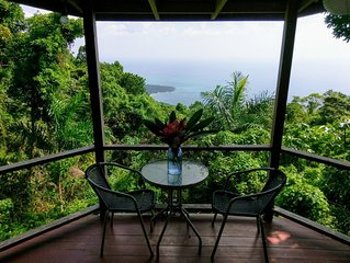 Tropical style cabins with ocean View