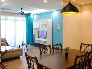 BJ #8 Spacious 3BR Design with wifi close to LRT