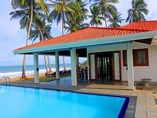 Hikkaduwa Ocean Front / Beautiful / Open Floor Plan / 'The Palms Villa'