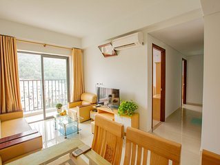 Hometel in Bai Chay, Ha Long with two bedrooms, kitchen, living room