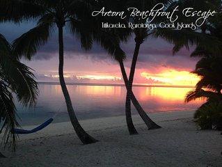 Nestled on the white sandy beach and crystal blue lagoon of Rarotonga