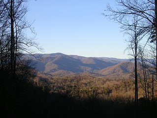 Grand Seclusion a great smokey mountain getaway with fantastic mountain views!