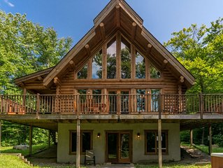 Chalet Chinook Tremblant - Lakefront log cottage with 5 bedrooms (Private Spa)