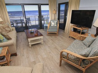 Direct Oceanfront Serenity, No-Drive Beach, Newly Renovated, Professional Decor