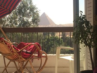 pyramids apartment is just located since 2000 in a good location with nice view.