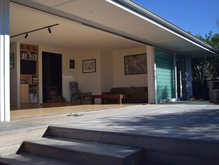 Architecturally designed bach at Papamoa Beach