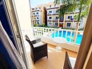 Beautiful complex of 'Estrella Del Mar' is this 2 bedroom condo on two levels