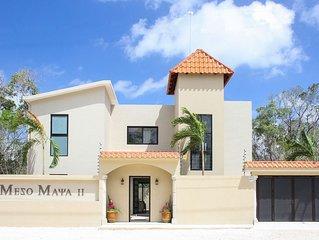 Meso Maya II, Perfect for 10, offers Chef, Massage & Transportation Service