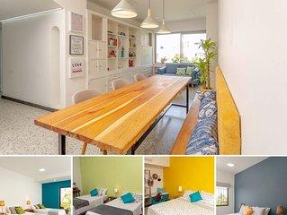 Precioso, único, moderno espacio / 4 habitaciones bonitas