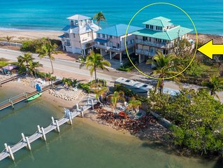 Stunning Beach House ON Beach +Dock/hot tub/pools!  << $100/nt * bdrm  DISCOUNTS