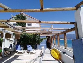 BEACH FRONT HOUSE - LIVING ON THE BEACH SAMOS ISLAND