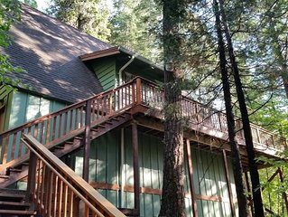 Serene Sierra Cabin in the Big Trees Forest