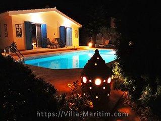 Villa Maritim - strandnaher Traum-Bungalow mit Meerblick und privatem Pool