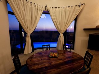 villa with an amazing desert sunset view