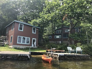 Family Lake Paradise in Sebago Lakes Region on Brandy Pond w/sandy beach.