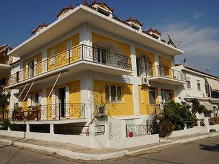 Huize Antoinet. Griekse eiland Samos in het vissersdorp Ireon.