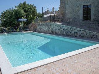 Stunning Sicilian stone villa with large swimming pool