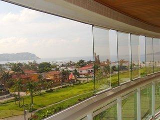 Apartamento de alta padrão na praia de Enseada, Guarujá