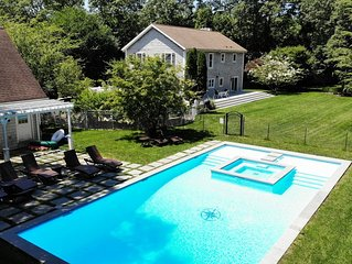 Massive, luxury beach house, w/ huge yard, pool, & sundeck in East Hampton