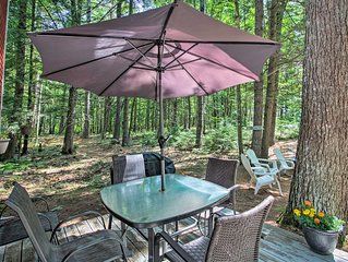 NEW! Waterfront Panther Pond Cottage w/ Deck+Grill