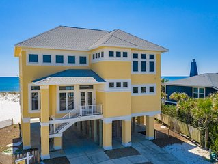 Contemporary Gulf front home with privacy and solitude-perfect for families