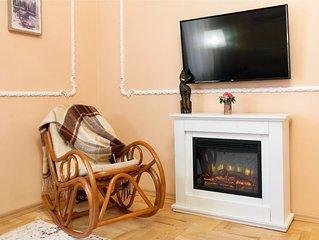 Прекрасна квартира в самому центрі Львова, дуже простора та затишна.