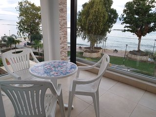 Nice sea view apartment on the beach, in the tourist area of Limassol.