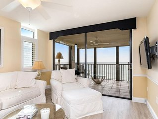 Direct on Vanderbilt Beach!  2 bed, 2 bath Updated Unit available NOW!