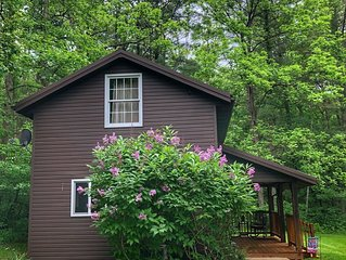 Cottage with rustic charm but modern amenities
