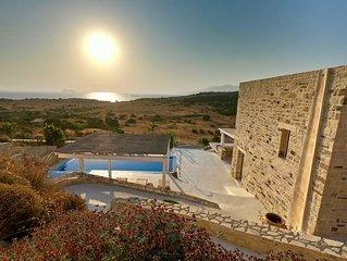 Ferienvilla in Toplage mit Meerblick, Infinitypool, traumhafter Sonnenuntergang