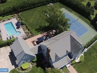 Water Mill Perfection: Tennis, Saltwater Pool, Winery, Art Museum, Kids Oasis