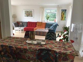 Glastonbury peaceful modern, open plan, very light  clean energy Vegan house