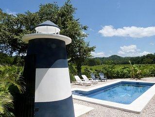 Casa Maritima, exklusives Ferienhaus mit Pool und grandiosem Ausblick in Sámara
