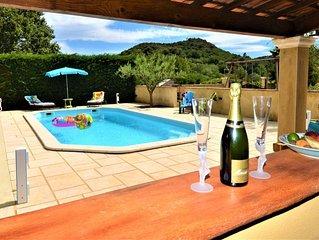 Jolie villa avec piscine and jardin