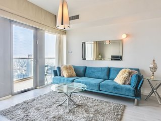 Luxury Neve Tsedek TLV SEA VIEW 2BR 2BA w/ Terrace~POOL &GYM /PARKING-High floor
