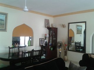 Homely, nicely furnished two-bedroom two-bath  serviced flat near beach in Kenya