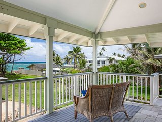 Hauula Beach Retreat - Ocean Views from Lanai, AC
