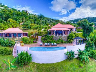 1 FREE NIGHT, Canefield House, Breathtaking Views, Tropical Setting, Cool Breeze