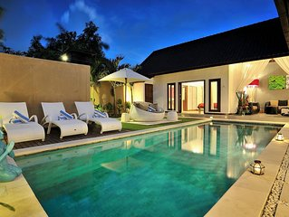 VILLA CAPRI .  Best location in Seminyak you can find!!  Right on Eat Street-  L