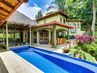 Luxury Mountain Estate With Many Monkeys Ocean View Pool Gated Maids AC