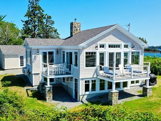 Brand new, year-round oceanfront home at the tip of Potts Pt. Private beach.